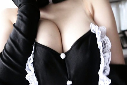 Nanako mori. Nanako Mori Asian with bunny ears reveals one of her great tits