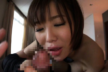 Nanako mori. Nanako Mori Asian pours in palm sperm she gets after suc