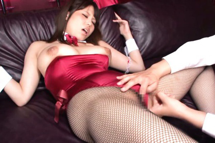 Rion nishikawa. Rion Nishikawa Asian bunny has twat fingered and