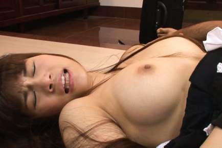 Ai nikaidou. Ai Nikaidou Asian topless house keeper has slit licked and fuck