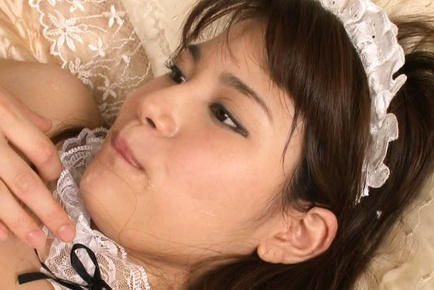 Ai nikaidou. Ai Nikaidou Asian topless house keeper gets ejaculate after frigging