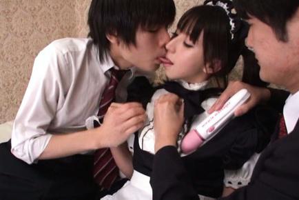 Yuuki itano. Yuuki Itano Asian is aroused with vibrators over