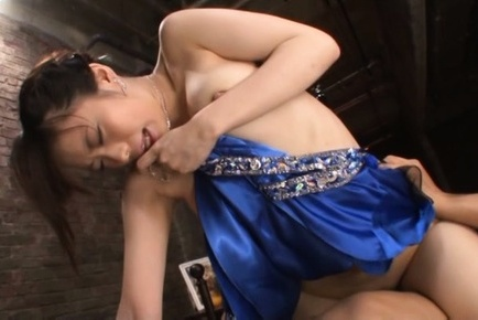 Misuzu kawana. Misuzu Kawana Asian takes blue dress off while riding phallus