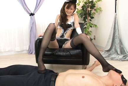 Japanese av model. Japanese AV Model puts lusty legs in
