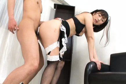 Japanese av model. Japanese AV Model in hot house keeper outfit is have sexual intercourse doggy
