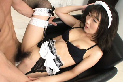 Japanese av model. Japanese AV Model with boobs out of bra has