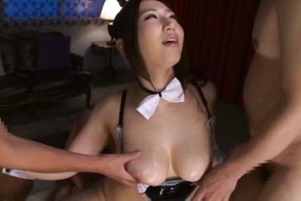 Sayuki kanno. Sayuki Kanno Asian with large oiled melons