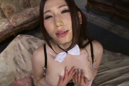 Sayuki kanno. Sayuki Kanno Asian gets cumshot in mouth and on