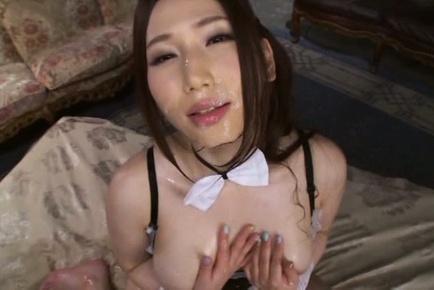 Sayuki kanno. Sayuki Kanno Asian gets cumshot in mouth and on