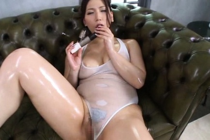 Sayuki kanno. Sayuki Kanno Asian in oiled lingerie fucks