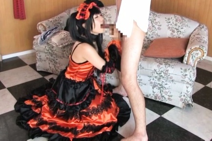 Chika arimura. Chika Arimura Asian in kinky uniform plays with