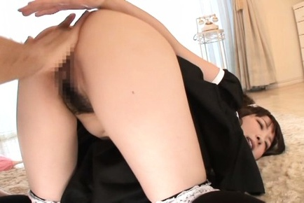 Yui sasaki. Yui Sasaki Asian maid blowjob penish and is fingered