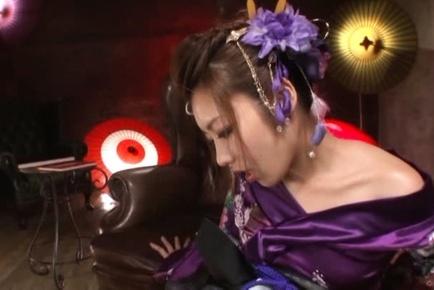 Ayu sakurai. Ayu Sakurai Asian in geisha dress and